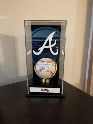 Sirmans Atlanta Braves signed baseball